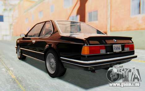 BMW M635 CSi (E24) 1984 HQLM PJ3 pour GTA San Andreas laissé vue