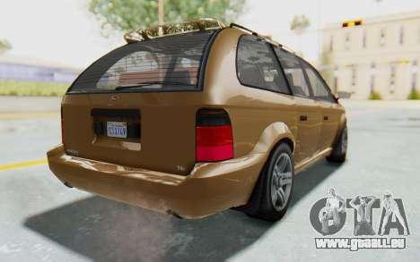 GTA 5 Vapid Minivan pour GTA San Andreas laissé vue