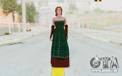 The Witcher 3 - Triss Merigold Dress für GTA San Andreas zweiten Screenshot