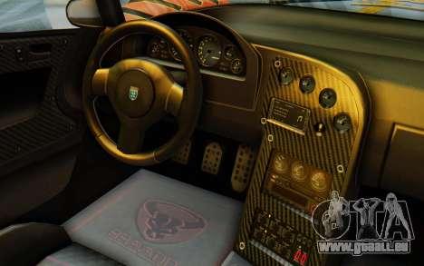 GTA 5 Grotti Cheetah IVF für GTA San Andreas Seitenansicht