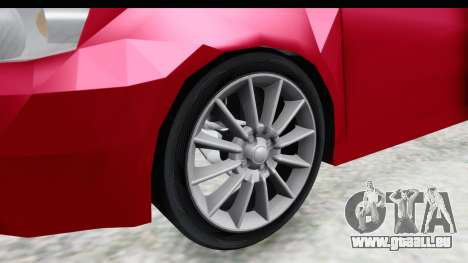 Zastava 10 1.6 pour GTA San Andreas vue arrière
