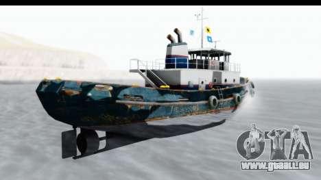 GTA 5 Buckingham Tug Boat v1 pour GTA San Andreas laissé vue