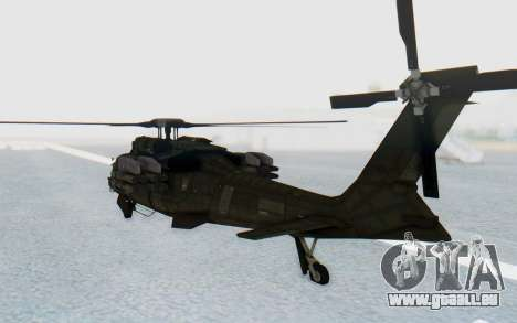 MGSV Phantom Pain UTH-66 Blackfoot für GTA San Andreas rechten Ansicht