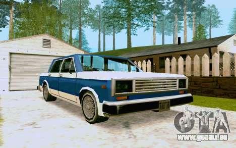 Bobcat Sedan pour GTA San Andreas laissé vue