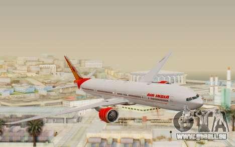 Boeing 777-300ER India Air für GTA San Andreas zurück linke Ansicht