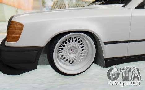 Mercedes-Benz W124 Stance Works für GTA San Andreas Rückansicht