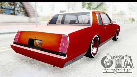 Chevrolet Monte Carlo Breaking Bad für GTA San Andreas zurück linke Ansicht