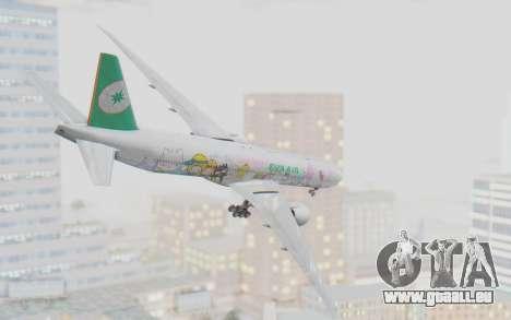 Boeing 777-300ER Eva Air v1 für GTA San Andreas rechten Ansicht
