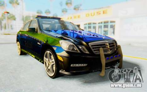 Mercedes-Benz E63 German Police Blue-Yellow pour GTA San Andreas