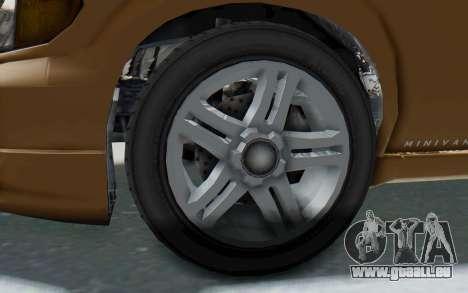 GTA 5 Vapid Minivan für GTA San Andreas Rückansicht