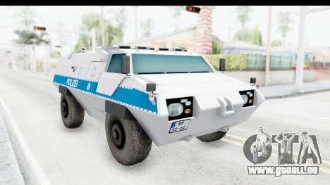 Hermelin TM170 Polizei für GTA San Andreas rechten Ansicht