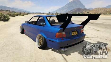 GTA 5 BMW M3 E36 DRIFTMISSILE vue arrière
