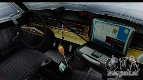ГАЗ 24 la Police Highway Patrol pour GTA San Andreas vue intérieure