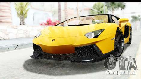 Lamborghini Aventador LP700-4 LB Walk pour GTA San Andreas sur la vue arrière gauche