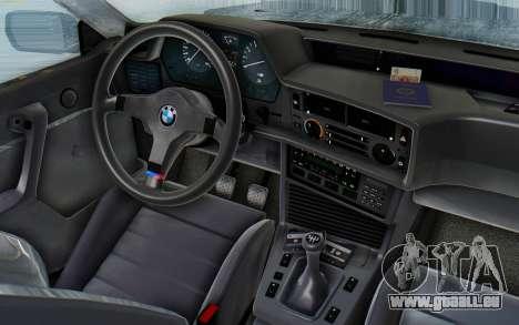 BMW M635 CSi (E24) 1984 HQLM PJ3 pour GTA San Andreas vue arrière