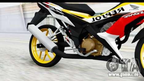Honda 150R Sonic X IDFR für GTA San Andreas Innenansicht