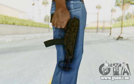 VZ-61 Skorpion Fold Stock Russian Gorka Camo für GTA San Andreas dritten Screenshot