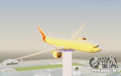 Boeing 777-300ER Virgin Australia v1 pour GTA San Andreas sur la vue arrière gauche