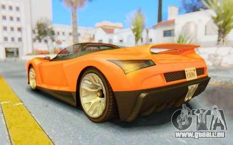 GTA 5 Grotti Cheetah IVF pour GTA San Andreas laissé vue
