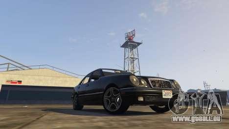 GTA 5 Mercedes-Benz W210 v1.0 vue latérale gauche