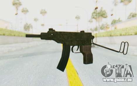 VZ-61 Skorpion Unfold Stock Green Flecktarn Camo pour GTA San Andreas