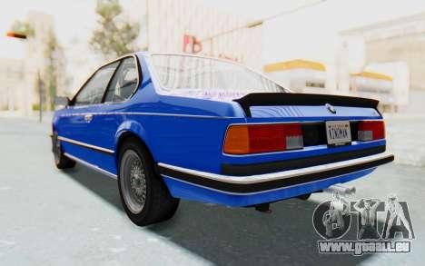 BMW M635 CSi (E24) 1984 HQLM PJ1 für GTA San Andreas zurück linke Ansicht