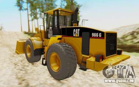 Caterpillar 966 GII pour GTA San Andreas laissé vue