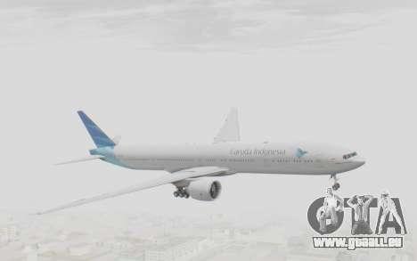 Boeing 777-300ER Garuda Indonesia pour GTA San Andreas sur la vue arrière gauche