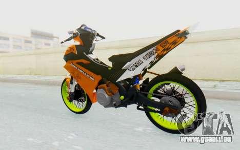Yamaha Jupiter MX 135 Roadrace pour GTA San Andreas laissé vue