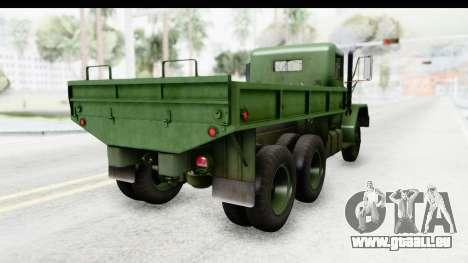 AM General M35A2 pour GTA San Andreas vue de droite