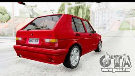 Volkswagen Golf Citi 1.8 1998 pour GTA San Andreas sur la vue arrière gauche