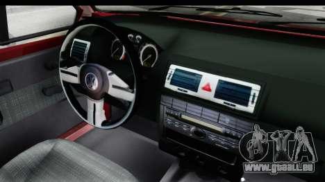 Volkswagen Golf VeloCiti 2008 Updated pour GTA San Andreas vue intérieure
