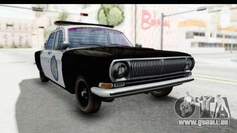ГАЗ 24 la Police Highway Patrol pour GTA San Andreas vue de droite