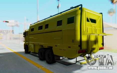 GTA 5 HVY Brickade pour GTA San Andreas vue de droite