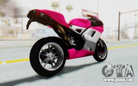 Ducati 1098R High Modification pour GTA San Andreas vue de droite