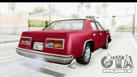 Ford Fairmont from Bully pour GTA San Andreas sur la vue arrière gauche