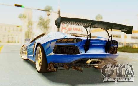 Lamborghini Aventador LP700-4 LB Walk Fenders für GTA San Andreas rechten Ansicht