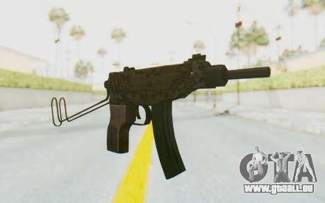 VZ-61 Skorpion Unfold Stock Russian Gorka Camo für GTA San Andreas