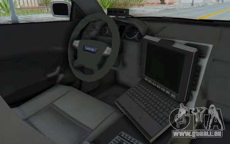 ASYM Desanne XT Pursuit v3 pour GTA San Andreas vue intérieure