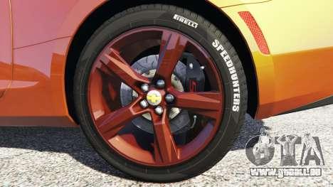 GTA 5 Chevrolet Camaro SS 2016 v2.0 hinten rechts