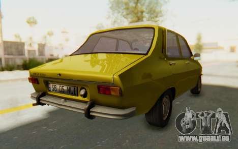 Dacia 1300 Stock für GTA San Andreas zurück linke Ansicht