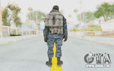 COD BO Russian Soldier Winter Balaclava pour GTA San Andreas troisième écran