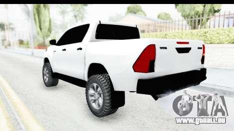 Toyota Hilux 2016 für GTA San Andreas linke Ansicht