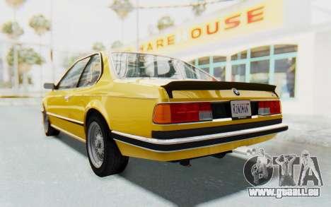 BMW M635 CSi (E24) 1984 HQLM PJ2 pour GTA San Andreas vue de droite