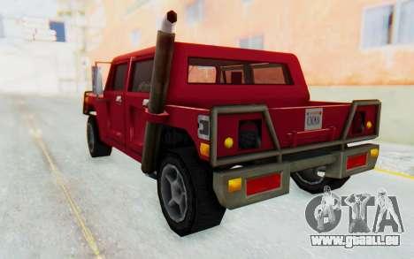 Civilian Patriot pour GTA San Andreas laissé vue