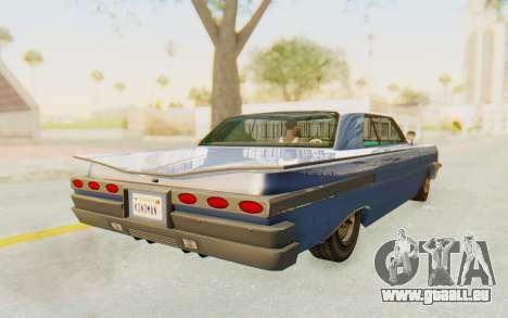 GTA 5 Declasse Voodoo Alternative v2 PJ pour GTA San Andreas sur la vue arrière gauche