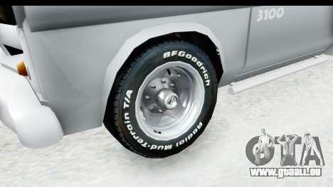 Chevrolet 3100 Diesel v1 pour GTA San Andreas vue arrière