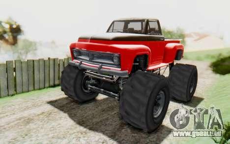 GTA 5 Vapid Slamvan XL v2.1 für GTA San Andreas zurück linke Ansicht