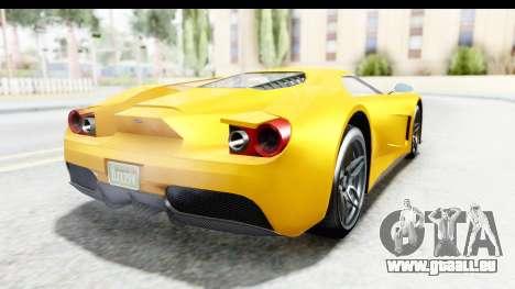 GTA 5 Vapid FMJ für GTA San Andreas rechten Ansicht