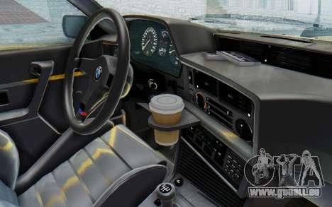 BMW M635 CSi (E24) 1984 HQLM PJ2 pour GTA San Andreas vue intérieure